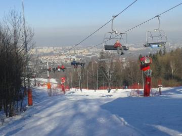 Winter in the Beskids - Ski lift to Dębowiec