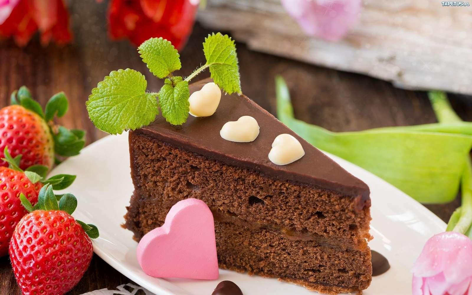 ceva dulce - tort de ziua de naștere și căpșuni (10×10)
