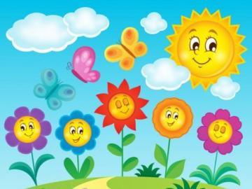 motylki na łące - wiosenne puzzle dla dzieci w wieku przedszkolnym.