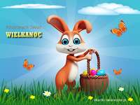 Easter - Krzysiu3. Easter. Easter card. Easter rabbit. I wish everyone a happy Christmas. Easter dishes.