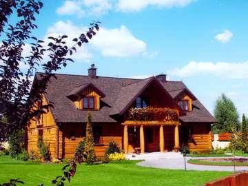 Casa di legno - Casa in legno ideale per vacanze, relax