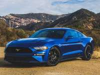 ford mustang - ford mustang blauw