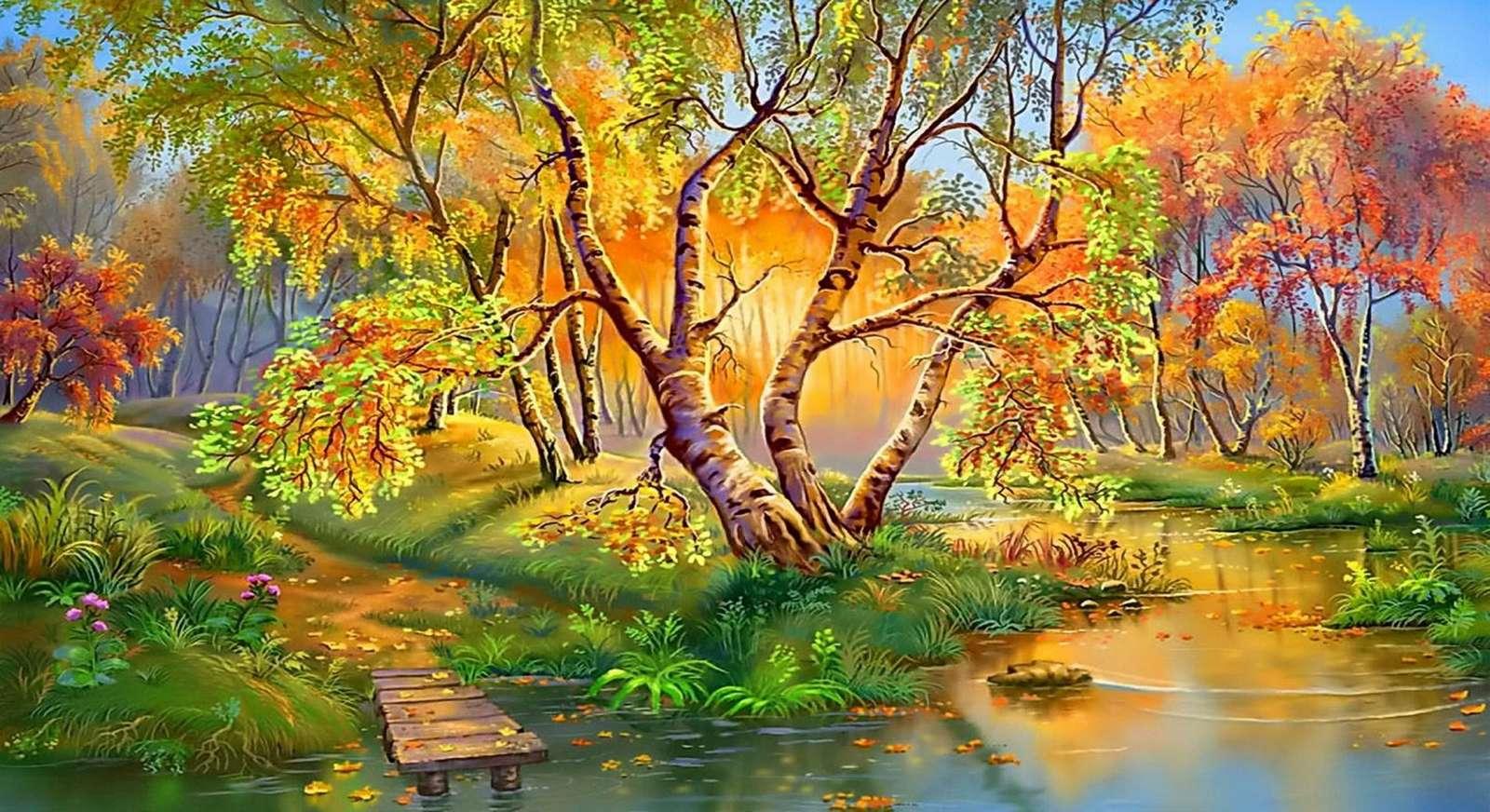 пейзаж - пъстър пъзел (10×10)