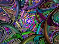 Colorful puzzle - colorful jigsaw puzzle