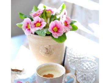same przysmaki - z samego rana kawka przy stole
