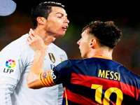 Messi suffocates Ronaldo !! :a - no comment. okay? I can not understand this.
