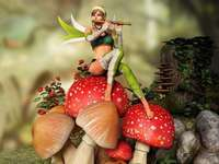 Elf girl - colorful jigsaw puzzle