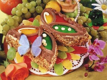 tort motylek - tort, deser, słodycz