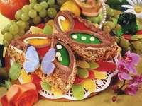 vlinder cake - cake, dessert, zoetheid