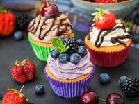 heerlijke cupcakes - zoete fruit cupcakes