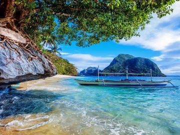 многокорпусни - катамаран, тропици, плаж, скали
