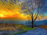 Ανατολή του ηλίου - πολύχρωμο παζλ