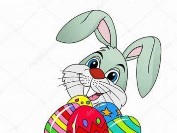 coniglio Pasquale - coniglietto di pasqua colorato