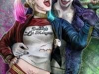 """Joker och Harley - Warner Bros. Bilder och DC Entertainment känner inte igen sådant som """"för upptagen grafik&qu"""