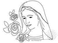 catechismus - Madonna puzzels voor kinderen van catechismus