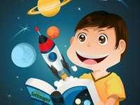 bambino nello spazio