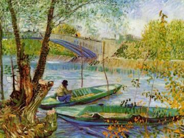 Angeln im Frühling - Frühling, Wasser, Angler