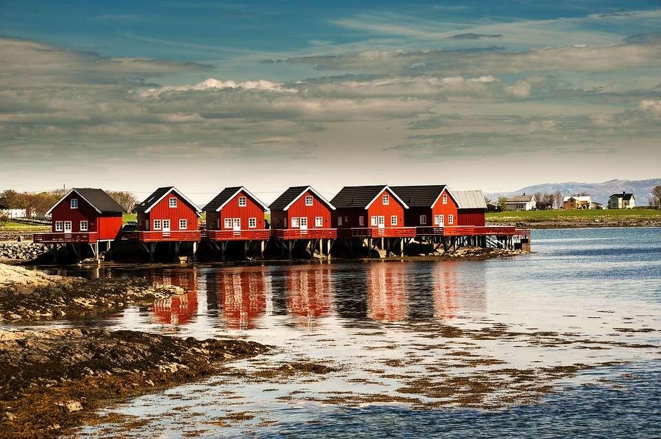 Case în Trondheim. Norvegia.