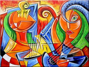 Abstraction - picture, colors, figures