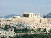 Uitzicht op de Akropolis - Griekenland, Akropolis, ruïnes