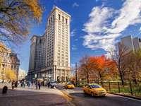 New York Manhattan - Manhattan, wolkenkrabbers, auto's