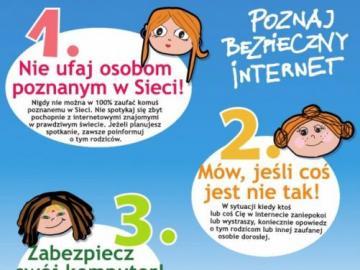 Zasady bezpiecznego internetu - Nie ufaj osobom poznanym w sieci!