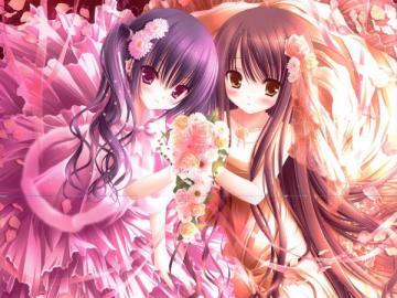 Anime Girls - Papier peint pour les filles