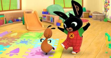 Bing & Flop - note, Bing is dancing, Flop is dancing too!The best puzzle zone for kids.