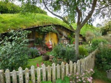 Casa Hobbit. - Una pequeña casa de hobbit.
