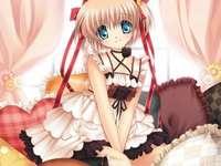 Fille de l'anime - Papier peint Image d'une fille