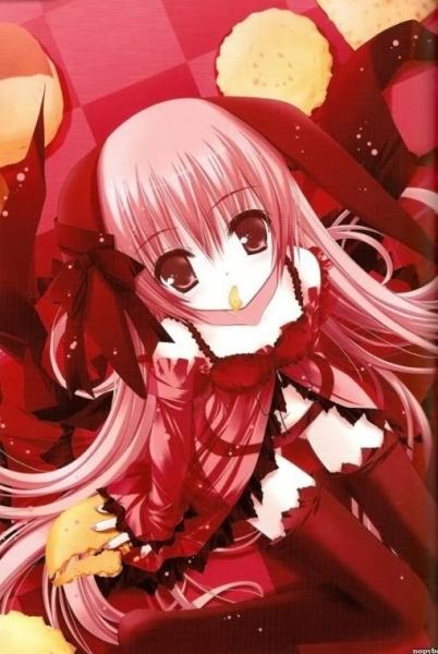 Anime meisje - Fotobehang van een meisje (10×10)