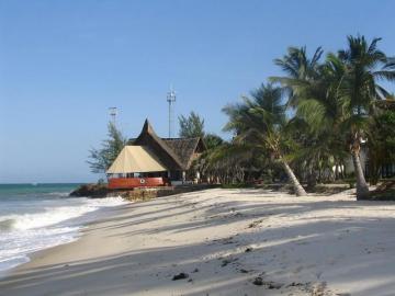 African beach in Kenya.