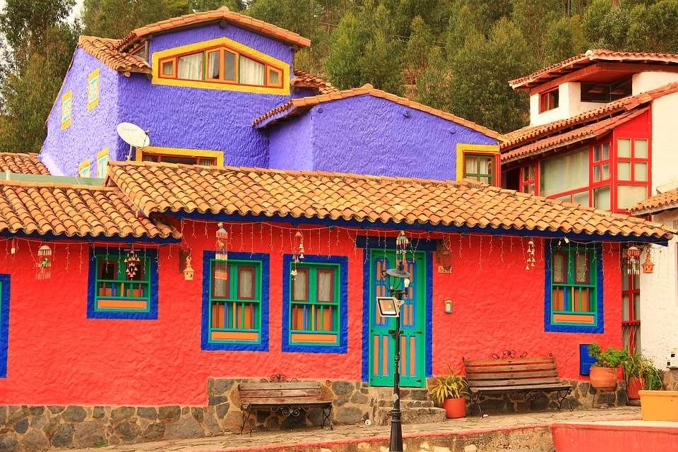 Une maison colorée.