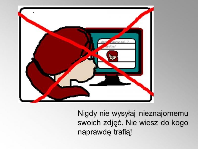 internet security - Do not send your photos to a stranger (8×8)