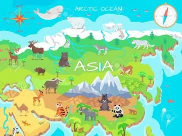 Asia continent - Asia, continent map
