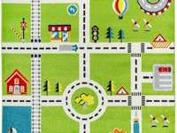 Alfombra para tu ciudad - City Fun es una alfombra interesante que sin duda atraerá la atención de los niños pequeños. La