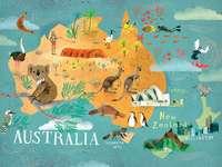 australia kontynent mapa