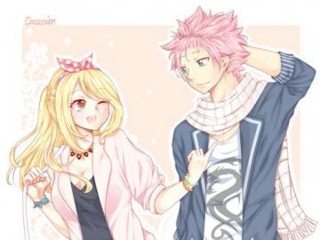 Queue de fée - Lucy Heartfilia et Natsu Dragneel Love