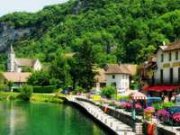 French village by the river. - Chanaz. French village by the river.