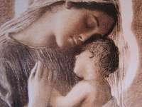 Guds mor med ett barn