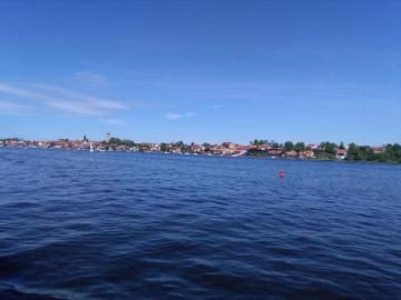ЛЮБОВ ЛАЙК - изглед от кораба към езерото Снярдви