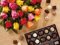 Róże i czekoladki
