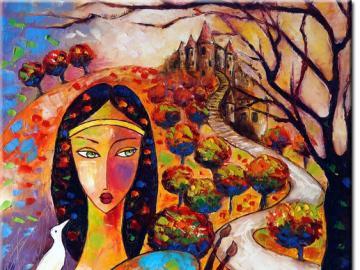 A. Wach - Kraina snu - malarstwo, kolory, fantazja. Układanka obrazkowa.