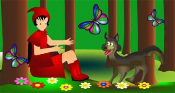 Malfitano - Puzzle on Little Red Riding Hood with only 2 cards