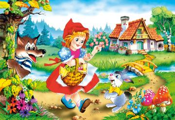 Malfitano - Puzzle on Little Red Riding Hood with only 3 cards. The best puzzle zone for kids.