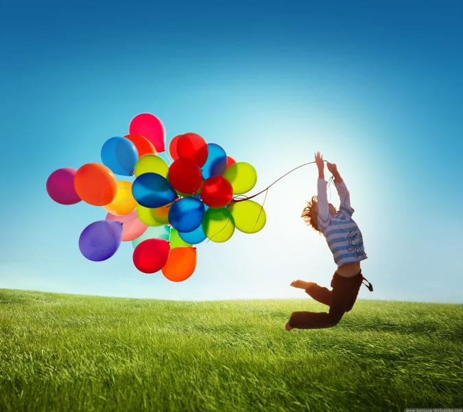 Kind en ballonnen - Al onze kinderen zijn! Een bijzondere dag (5×5)