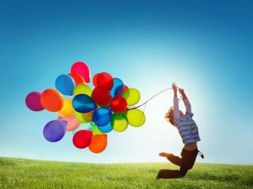 Bambino e palloncini - Tutti i nostri bambini sono! Giorno speciale.