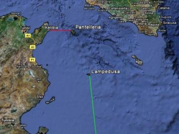 tripoli-lampedusa - the route from Tripoli to Lampedusa by sea