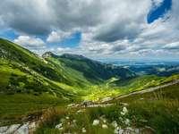 vackra berg online pussel
