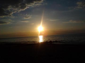 le coucher du soleil - Coucher de soleil sur la baltique